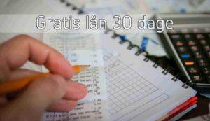 Gratis lån 30 dage